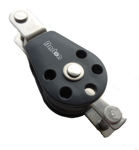 Barton 30mm (Size 1) Single Fixed Eye Clevis / Double Tang and Becket Block